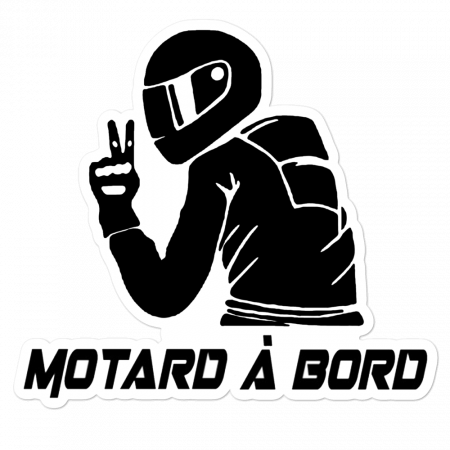 Sticker Motard a bord