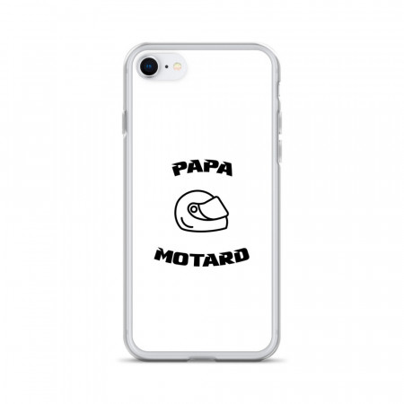 Coque iPhone Papa Motard