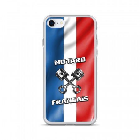Coque iPhone Motard Français